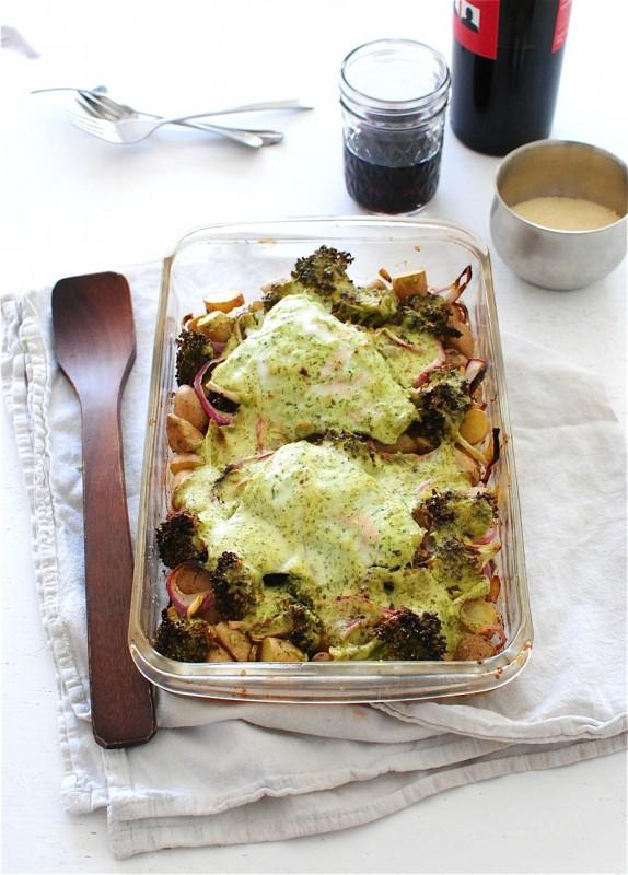 Creamy Salmon, Broccoli and Potato Bake / Bev Cooks