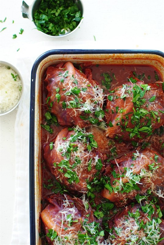Beef and Rice Cabbage Rolls / Bev Cooks
