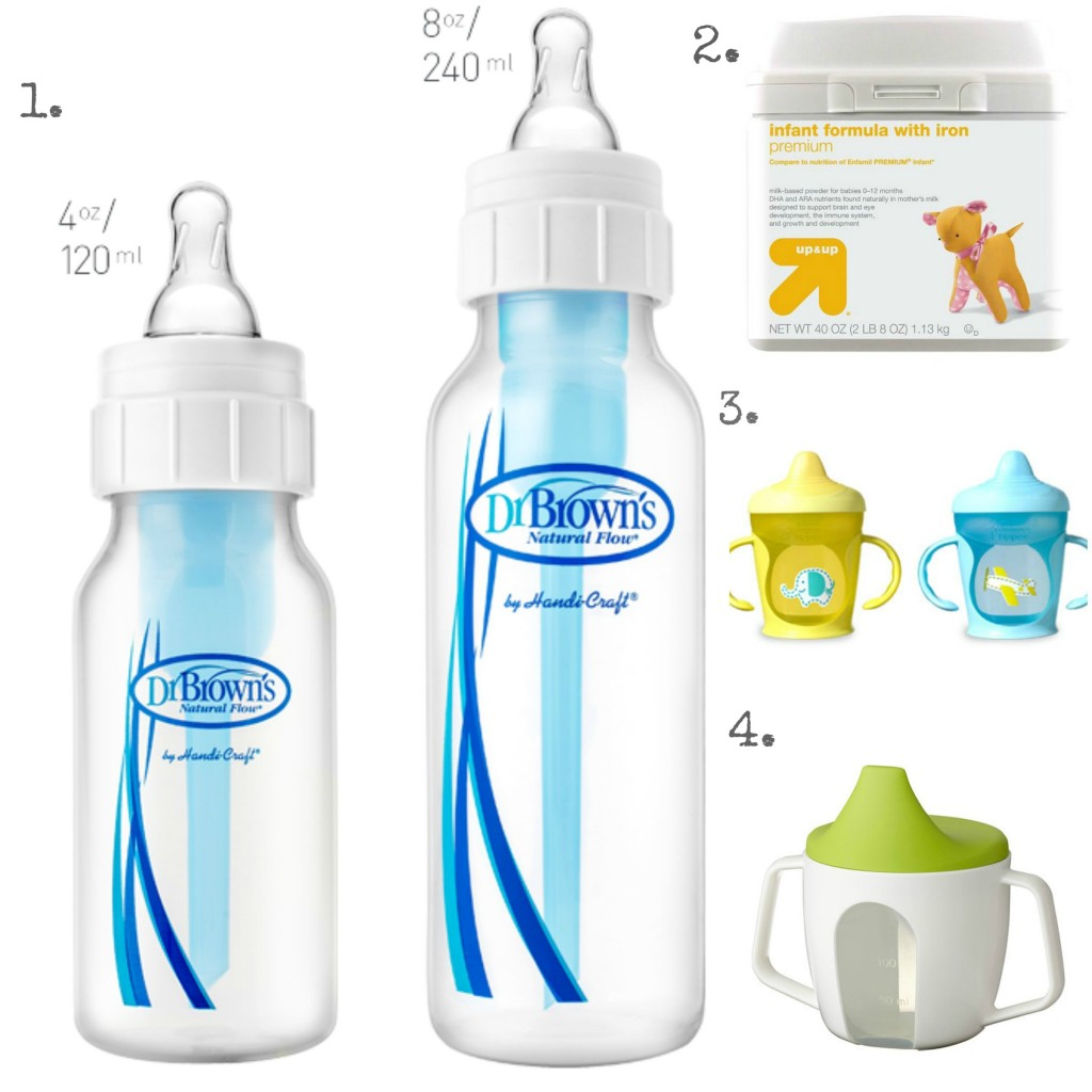 bottles and sippy cups