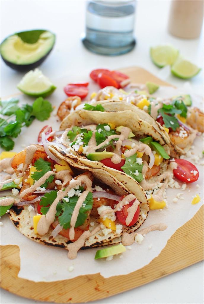 Ancho Shrimp Tacos / Bev Cooks