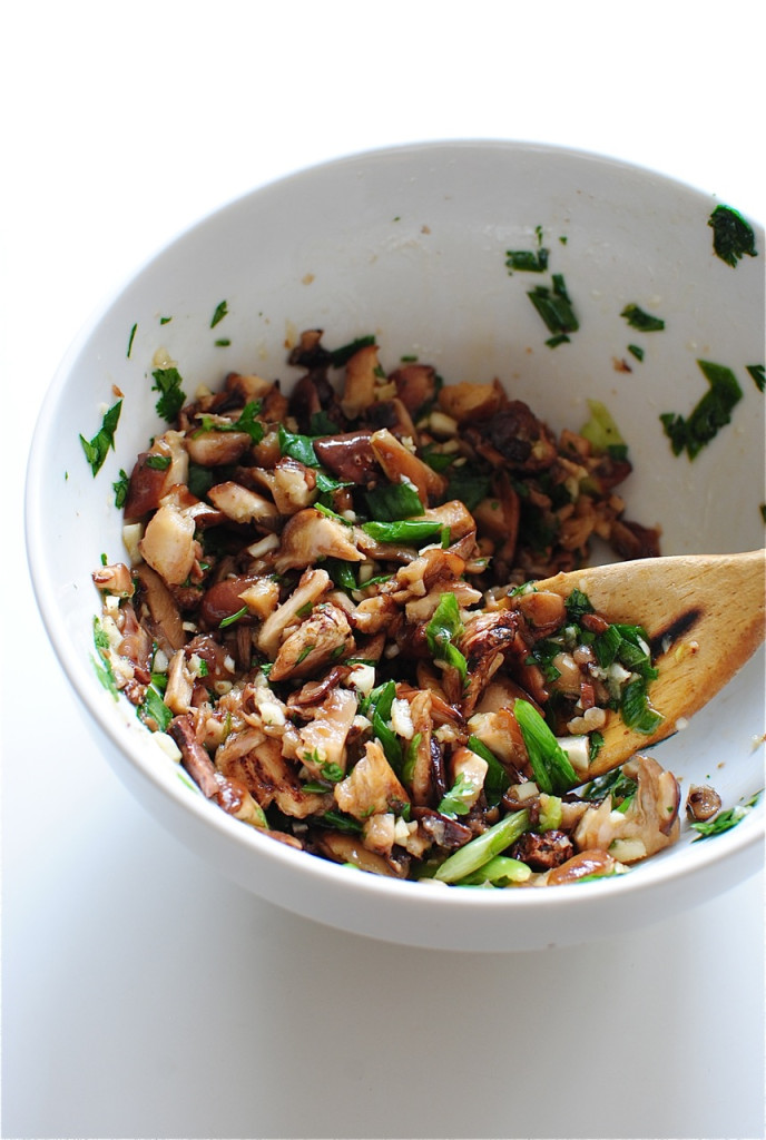 Asian Beef Burgers with a Shiitake Sauté / Bev Cooks