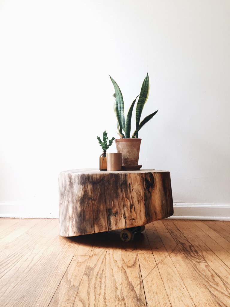 Hackberry Tree Stump End Table / available on Flotsamist Etsy store