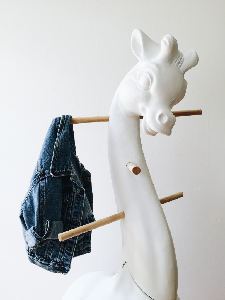 Vintage Giraffe Coat Rack / available on Flotsamist Etsy store