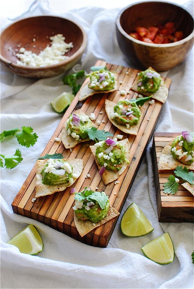 Shrimp Nacho Party Bites / Bev Cooks
