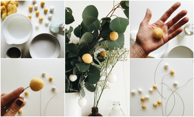 What We're Diggin' - Eucalyptus, Baby's Breath and DIY Billy Balls