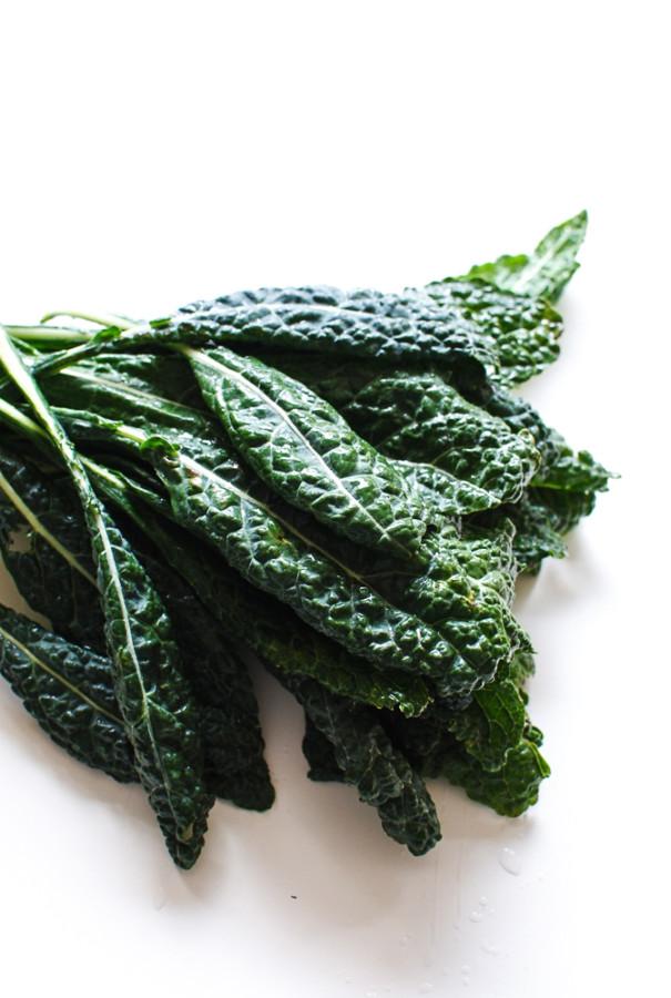Lentis, Kale and White Bean Salad / Bev Cooks