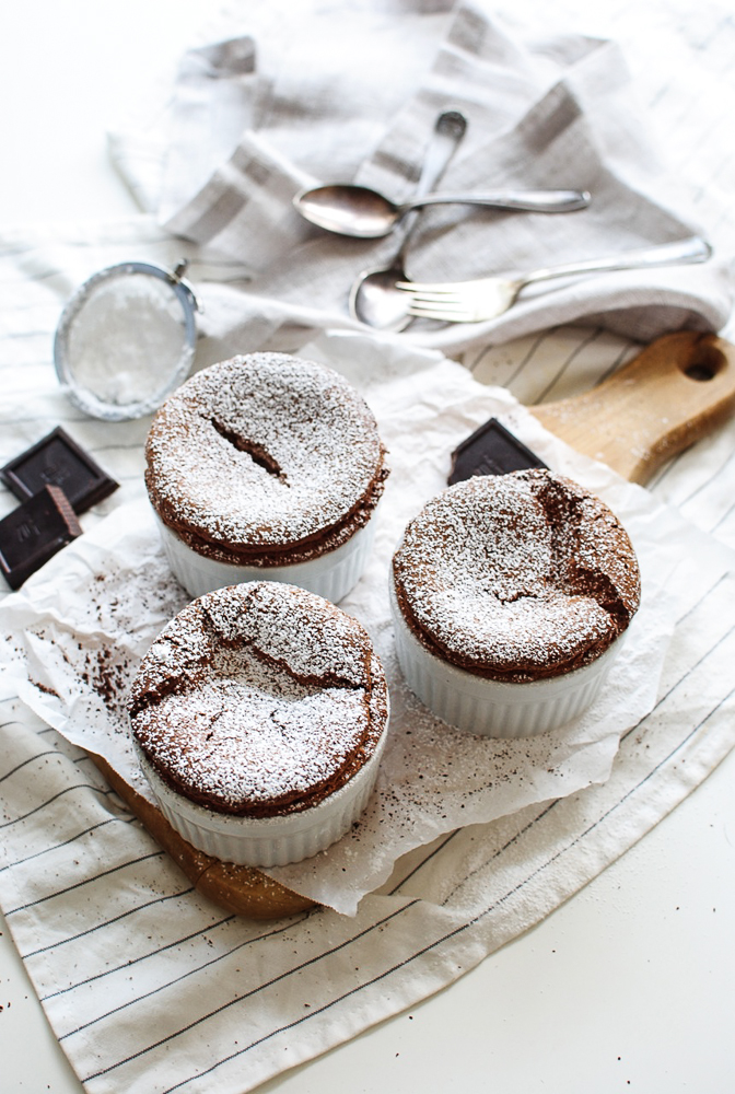 "Mini Chocolate ""Philly"" Soufflés / Bev Cooks"