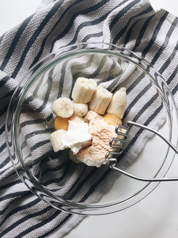 Simple Banana Ricotta Pancakes / Bev Cooks