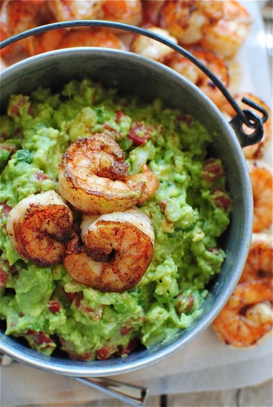 Cajun Shrimp Gaucamole / Bev Cooks