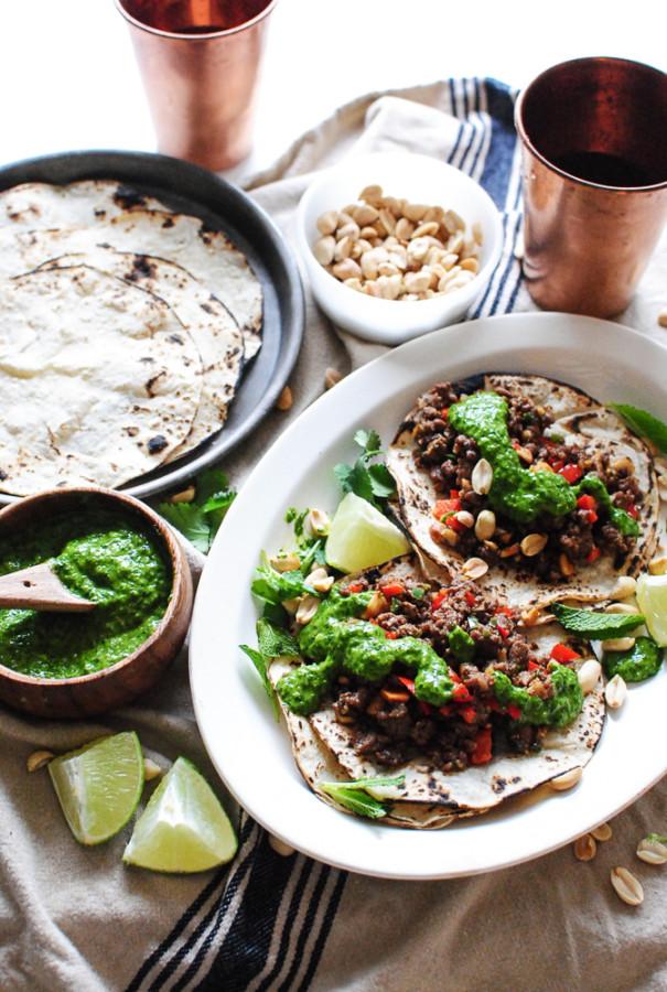Chinese Pork Tacos / Bev Cooks