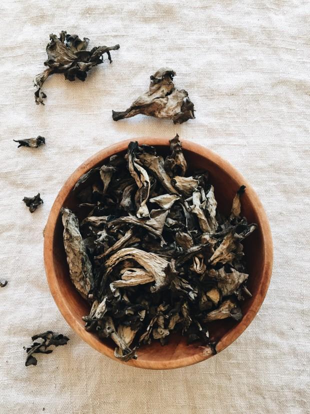 Black Trumpet Mushroom Puff Pastries / Bev Cooks