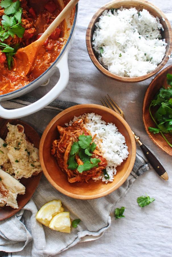 Easy Shredded Chicken Curry / Bev Cooks