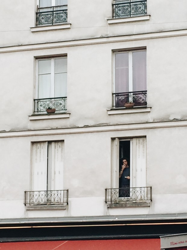 Paris Man Smoking in His Window