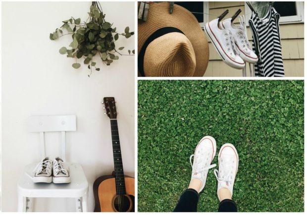 White Converse / Bev Cooks