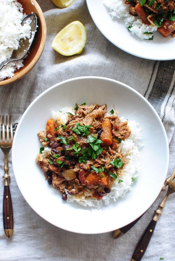 Slow Cooker Moroccan Pulled Pork / Bev Cooks