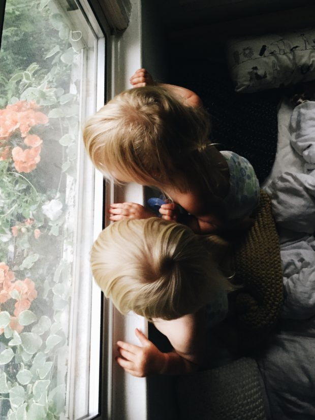Toddlers at the window