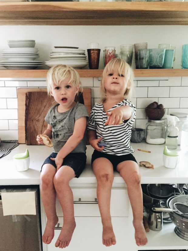 Toddlers on a Counter