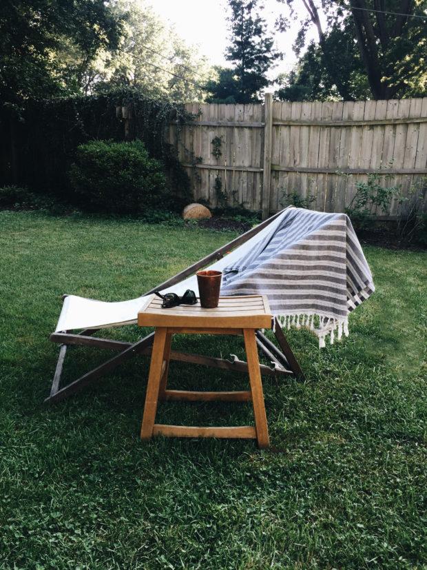 Sun chair, sun glasses and sun drink. My life.