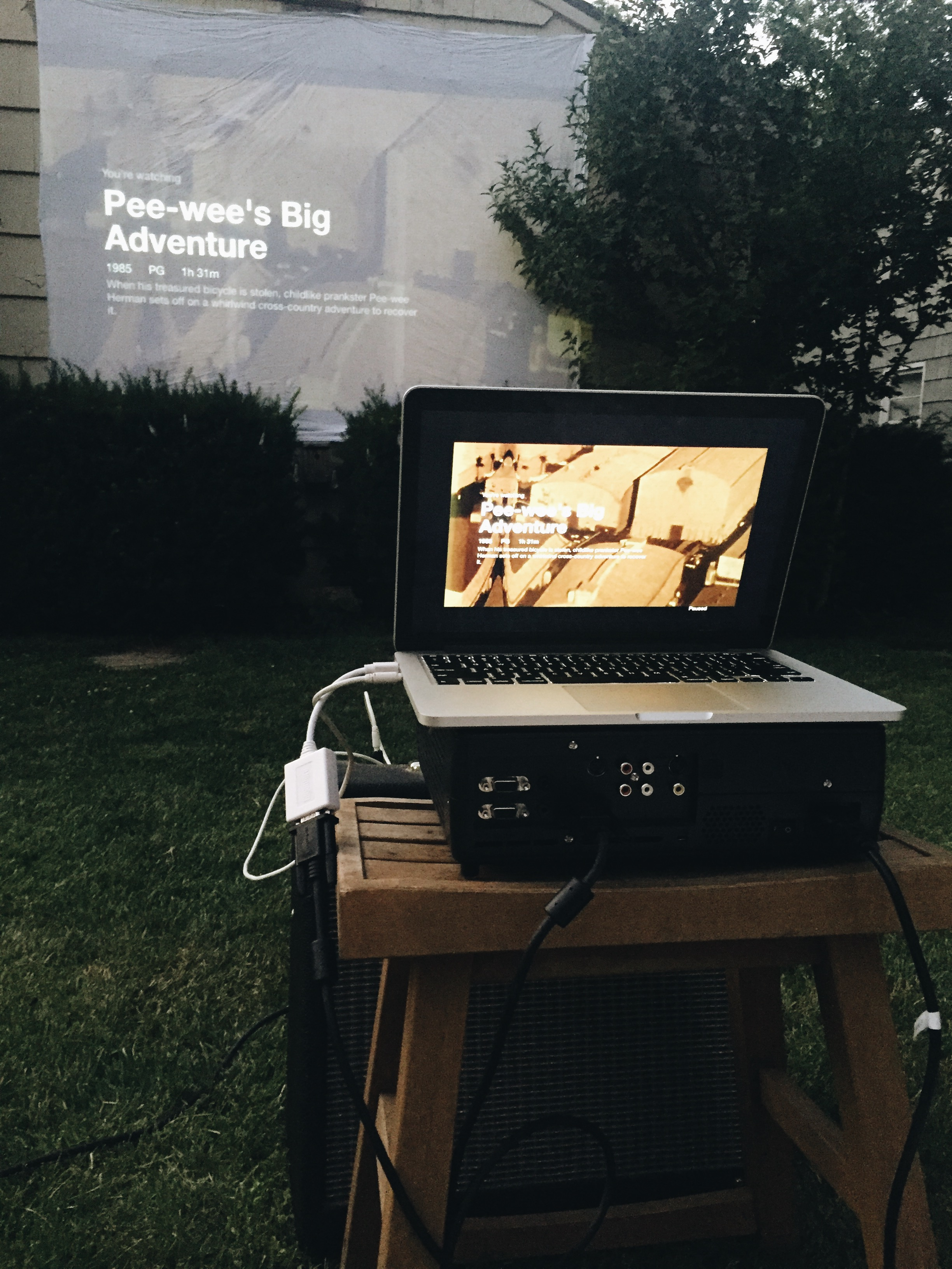 how to host a backyard movie night bev cooks