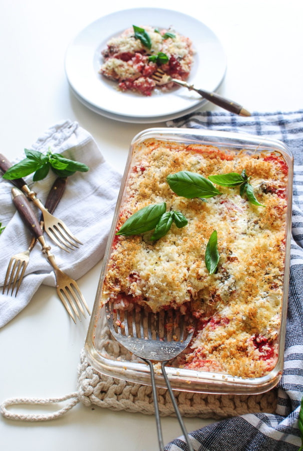 Italian Chicken and Rice Casserole / Bev Cooks