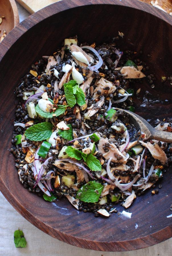 Greek Lentil and Tuna Salad / Bev Cooks