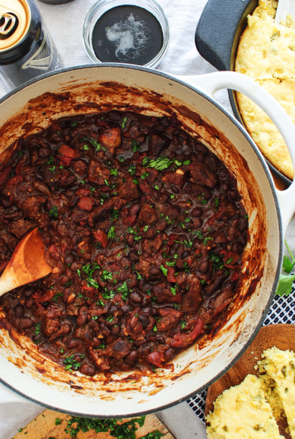 Steak and Black Bean Chili / Bev Cooks