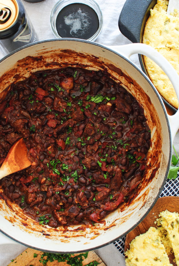 Steak and Black Bean Chili / Bev Cooks