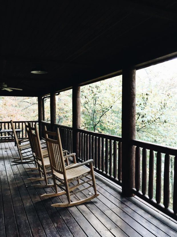 Rocking Chairs on Cabin Deck