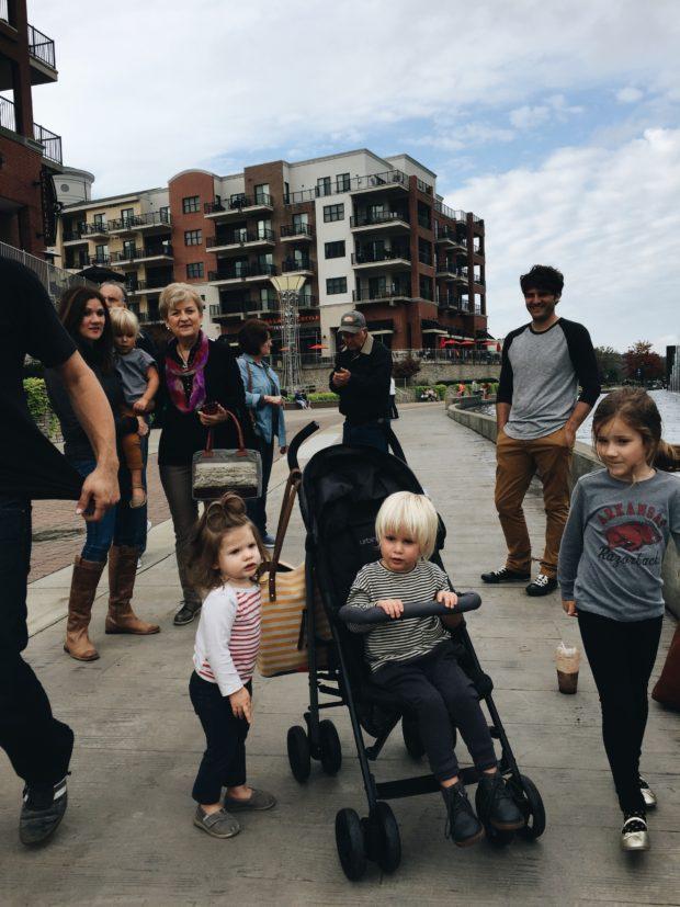 Family strolls in Branson