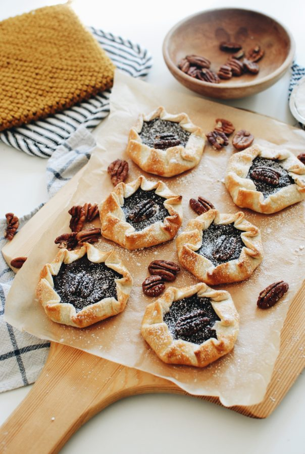 Mini Chocolate Pudding Galettes / Bev Cooks