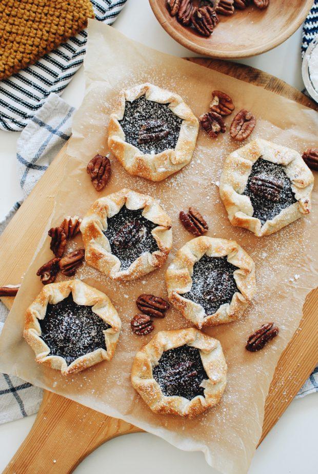 Mini Chocolate Pudding Galettes / Bev Cooks