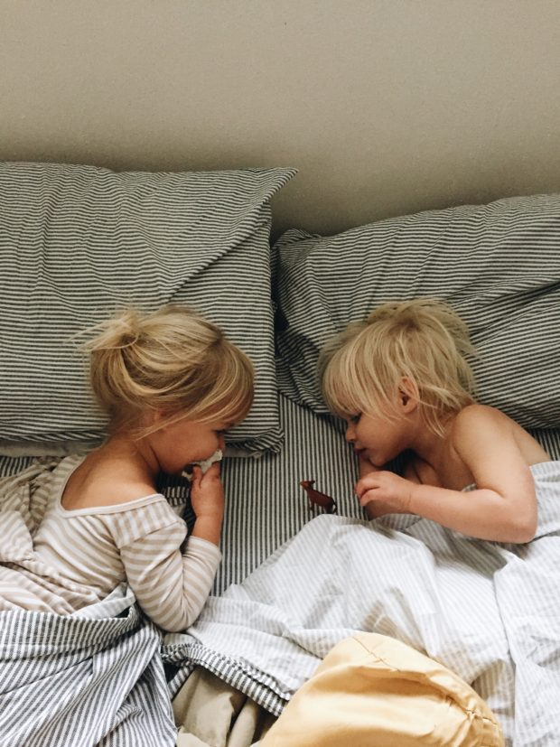 Toddlers in bed