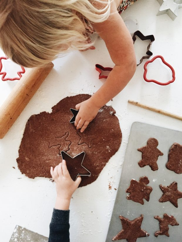 Gremlins making cinnamon ornaments