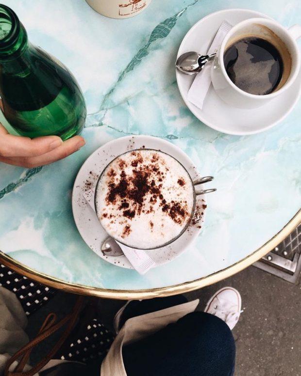 Cappuccinos in Paris