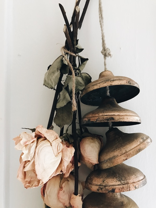 bells and dried roses