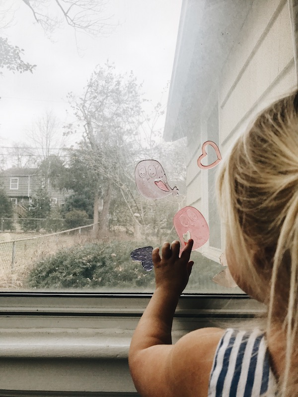 girl with window gels