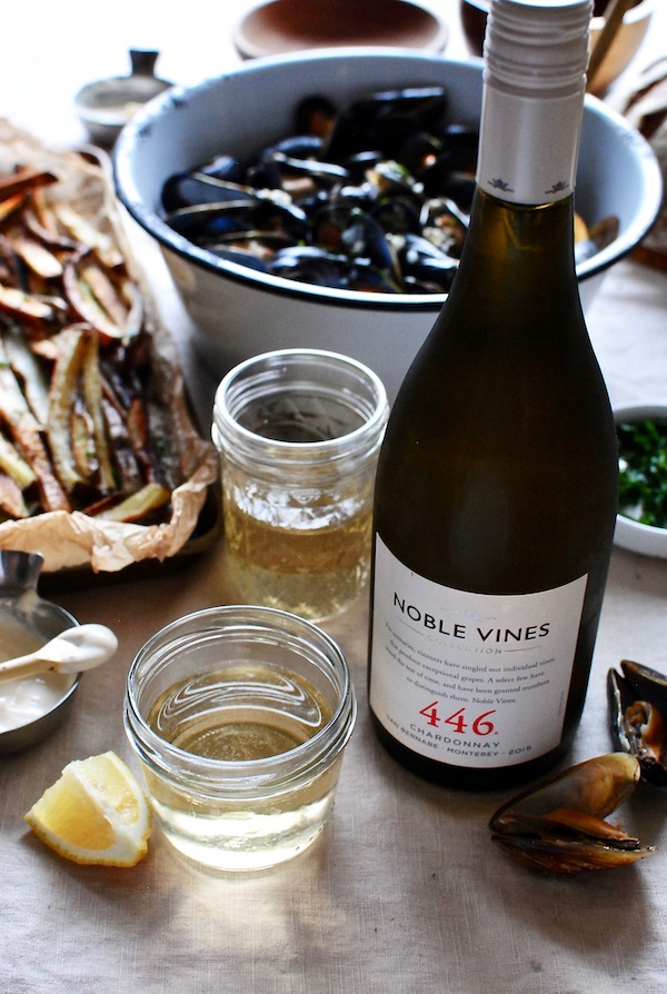 Steamed Mussels with Fries - A Noble Vines Wine Pairing - Bev Cooks
