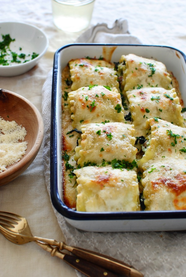 Sausage and Kale Lasagna Roll Ups / Bev Cooks
