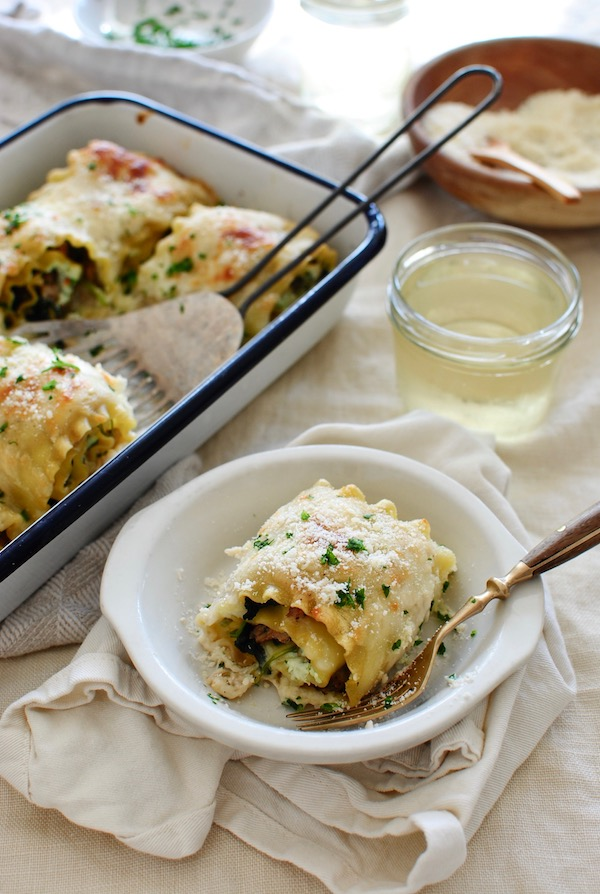 Sausage and Kale Lasagna Roll Ups / Bev Cooks