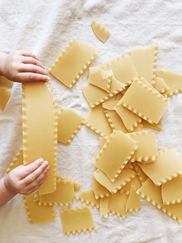 Skillet Chicken Lasagna / Bev Cooks