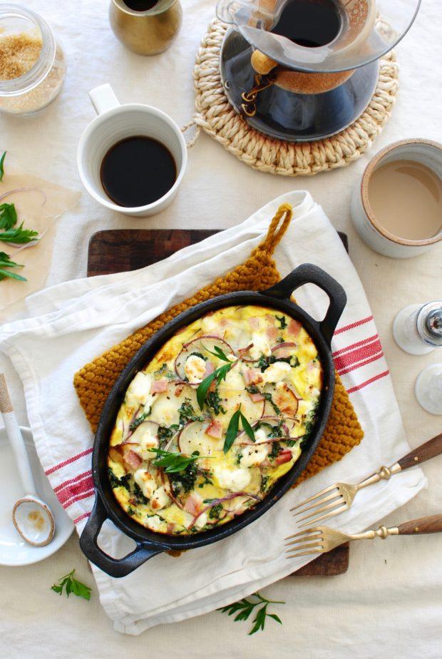 Egg, Ham and Potato Bake for Two / Bev Cooks