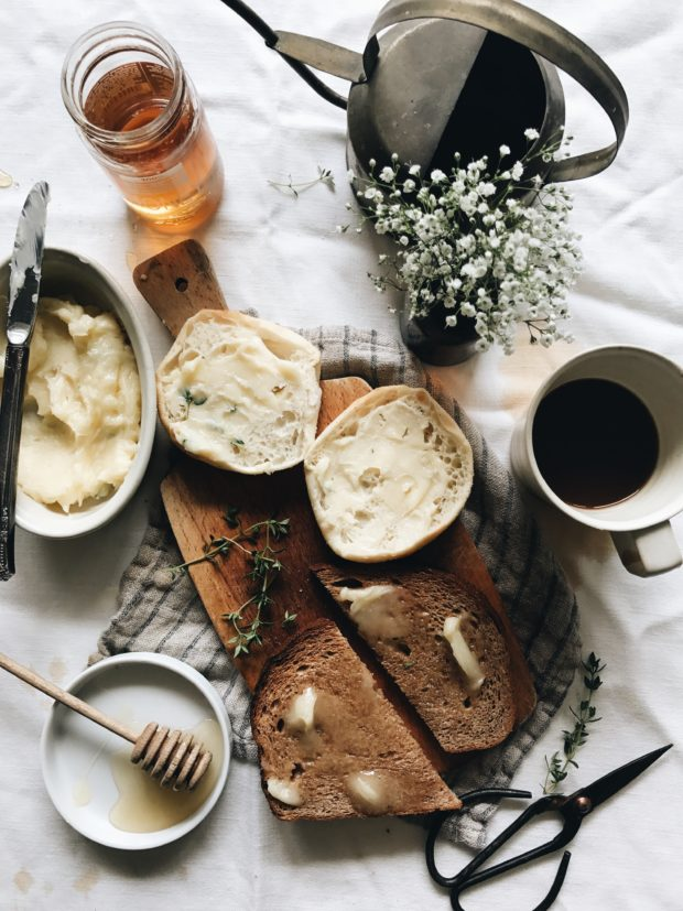 A Simple Honey Thyme Butter / Bev Cooks