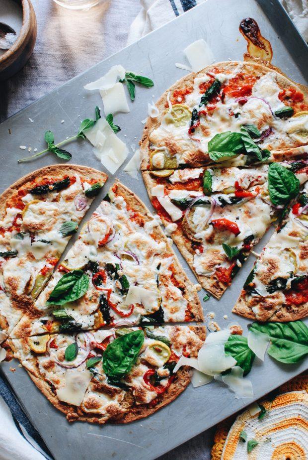 Flatout Flatbread Farmer's Market Pizza / Bev Cooks