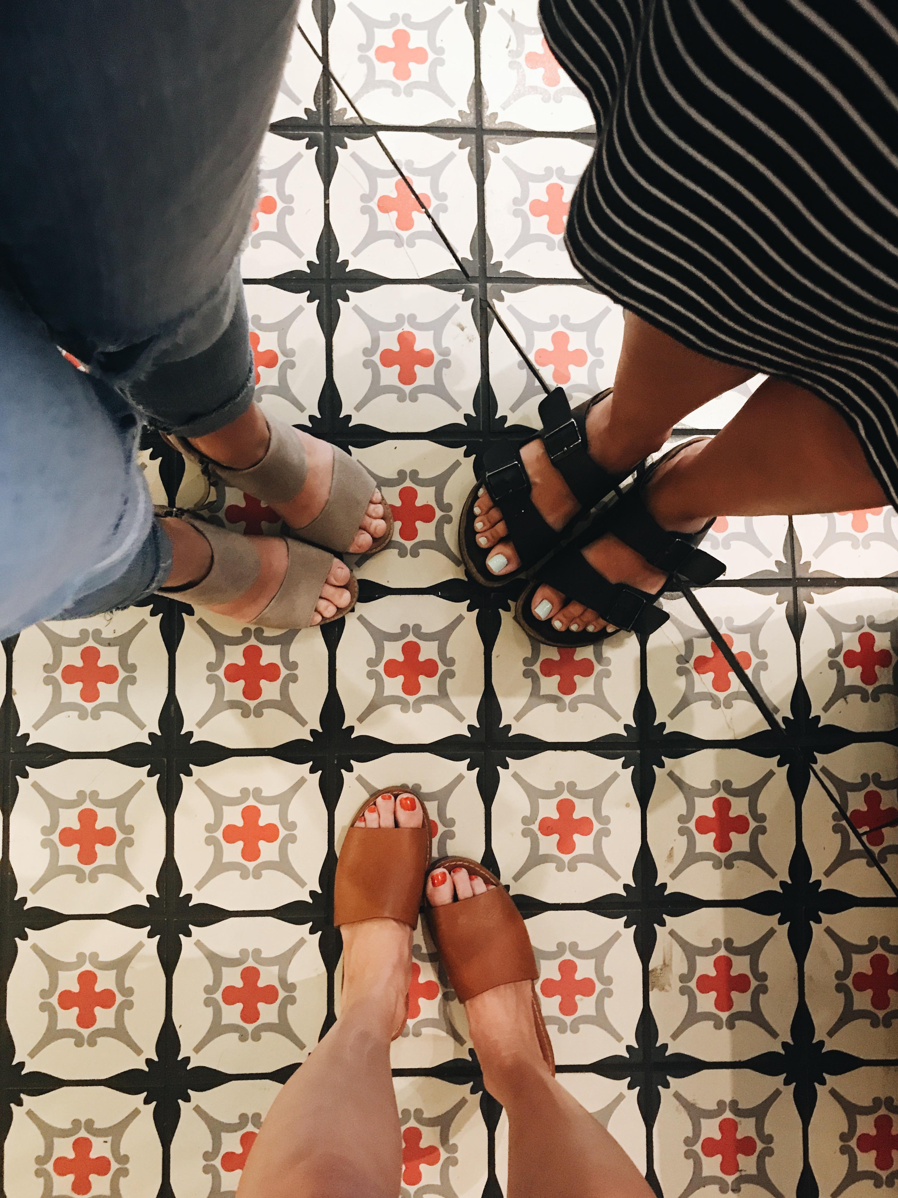 summer feet on tile