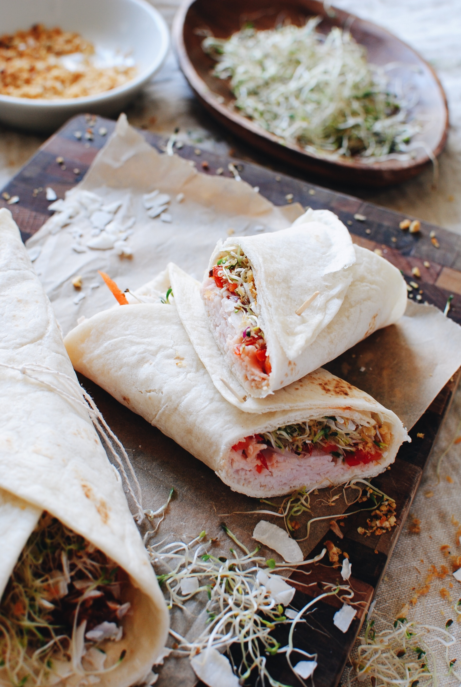 Thai Turkey Lunch Wrap / Bev Cooks