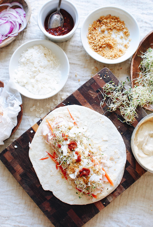 Thai Turkey Lunch Wrap / Bev Cooks