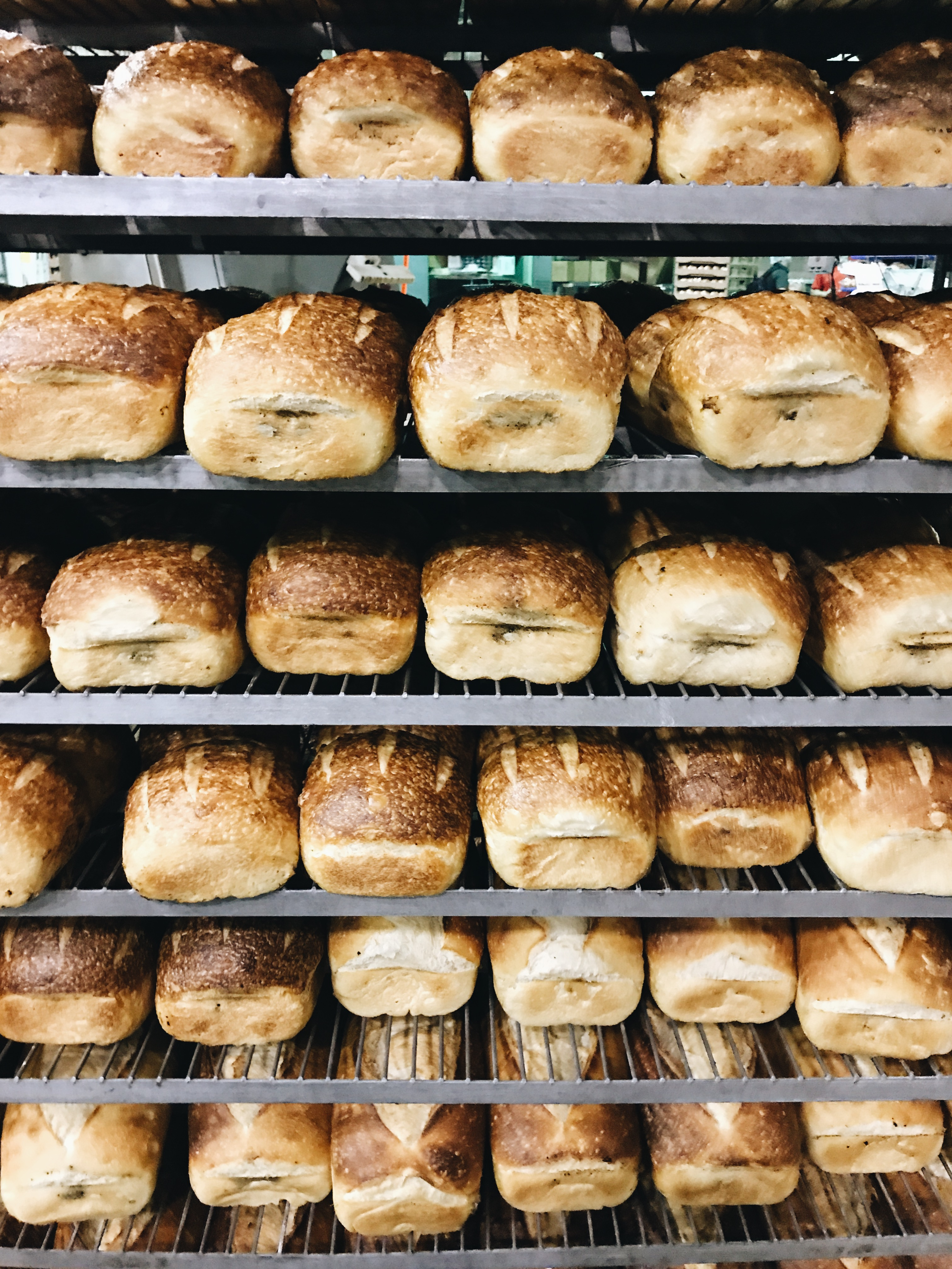 Fresh loaves at Farm to Market Bread Co - KC