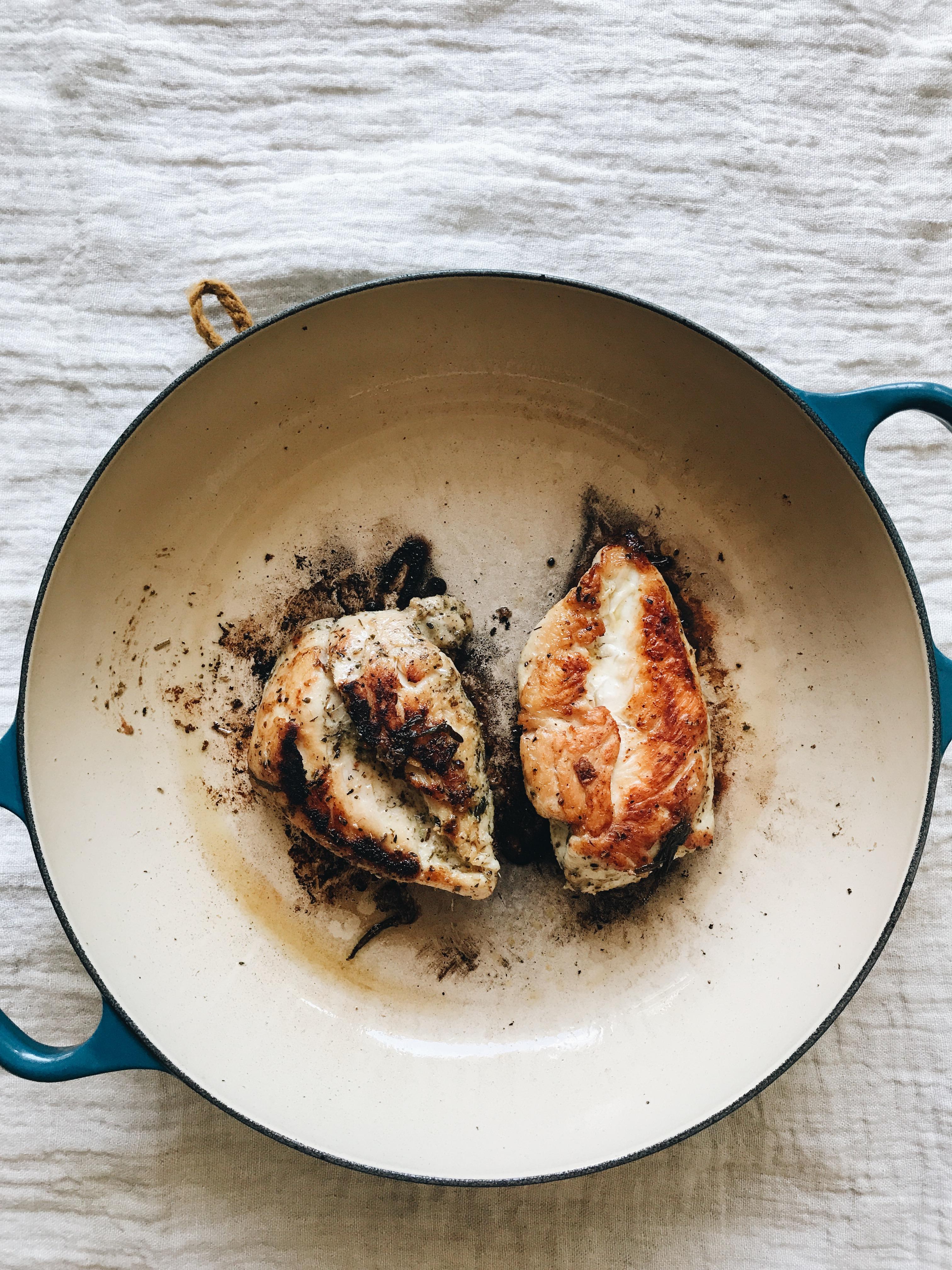 Tuscan Chicken Kale Salad / Bev Cooks