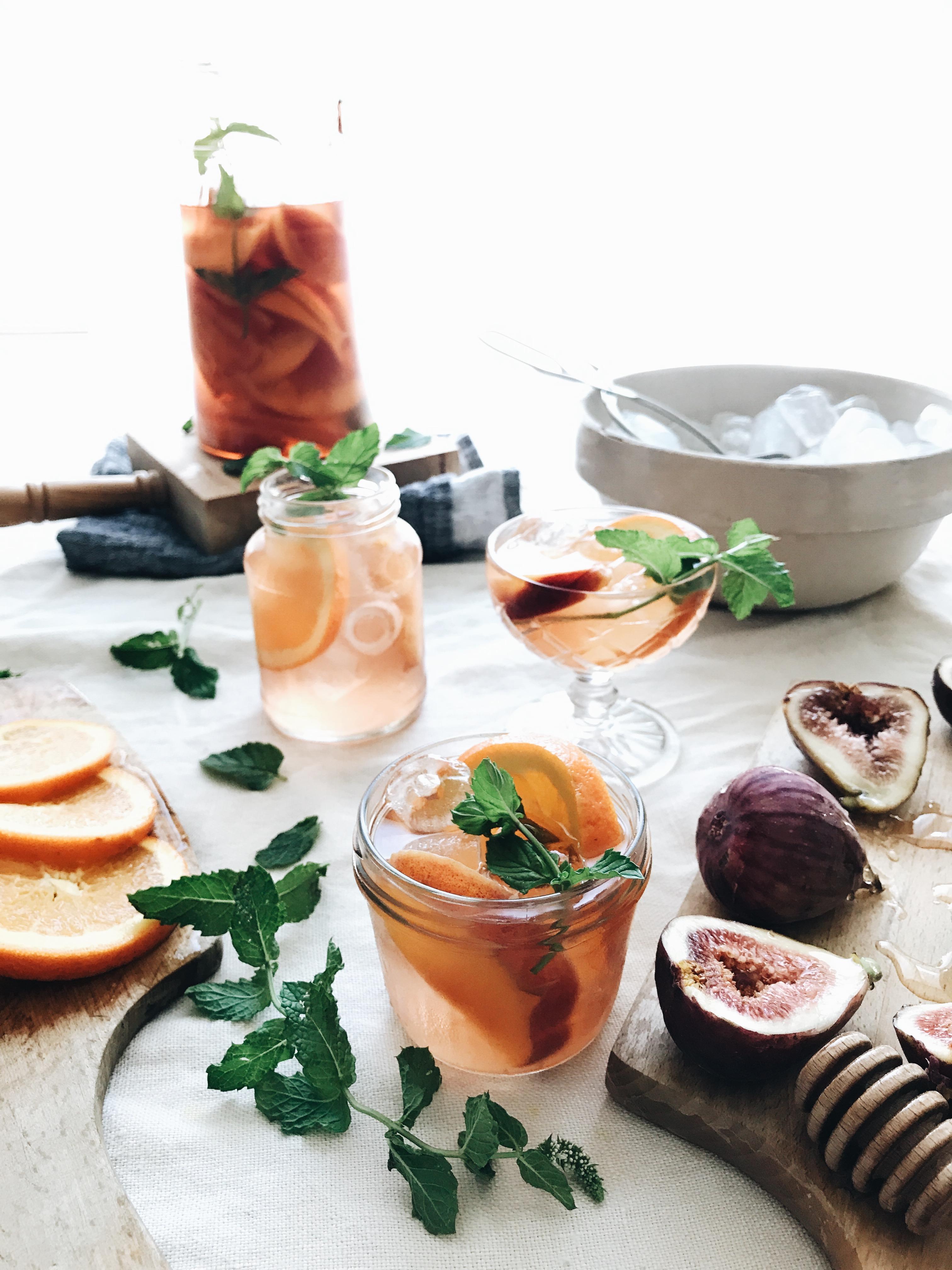 Simple Rosé Sangria / Bev Cooks