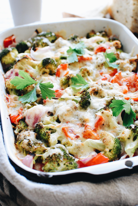 Cheesy Chicken and Veggie Bake / Bev Cooks